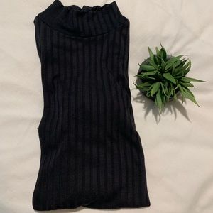 Black Topshop mock turtle neck long sleeve tee